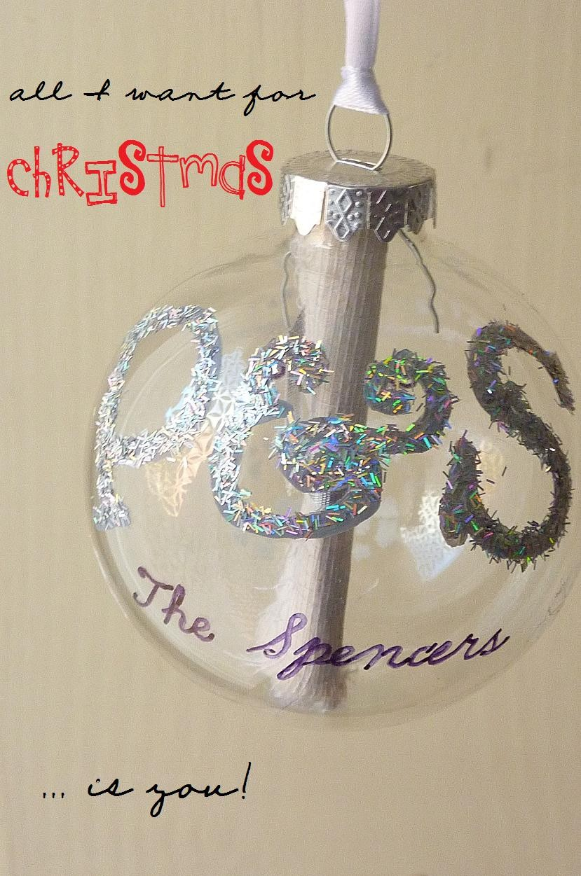 BOXED Handpainted Glass Ornament Christmas Bauble Personalised ...